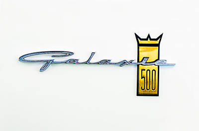 1963 Ford Galaxie 500 R-code Factory Lightweight Emblem Art Print