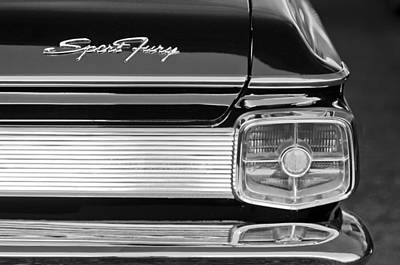 Tail Photograph - 1963 Plymouth Sport Fury Taillight Emblem by Jill Reger