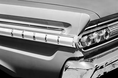 Comet Photograph - 1964 Mercury Comet Taillight Emblem by Jill Reger