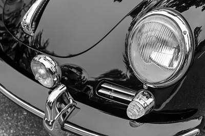 1964 Porsche 356 C Cabriolet Headlight Print by Jill Reger