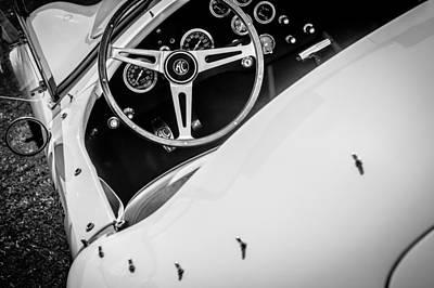 1964 Shelby Cobra 289 Steering Wheel Print by Jill Reger