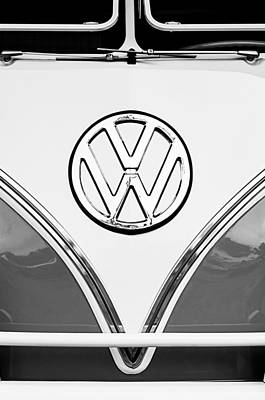 1964 Volkswagen Vw Samba 21 Window Bus Emblem Art Print