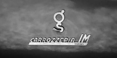 Photograph - 1965 Apollo 3500 Gt Carrozzeria Im Torino Emblem by Jill Reger