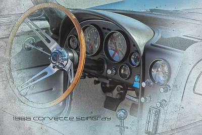 Man Cave Digital Art - 1965 Corvette Stingray Dash by J Darrell Hutto
