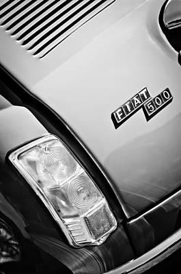 1965 Fiat Taillight Emblem Art Print by Jill Reger