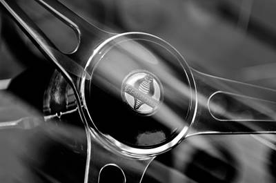 Cobra Photograph - 1965 Ford Mustang Cobra Emblem Steering Wheel by Jill Reger