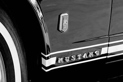 1965 Ford Mustang Gt Convertible Emblem Art Print by Jill Reger