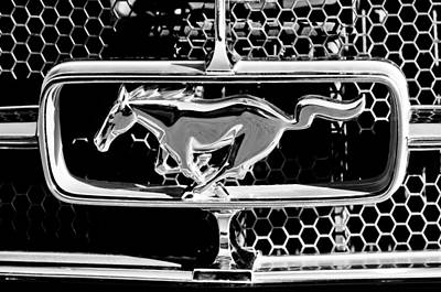 Photograph - 1965 Ford Shelby Mustang Grille Emblem by Jill Reger