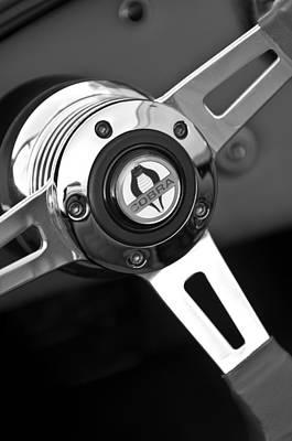 Photograph - 1965 Shelby Cobra 427 Steering Wheel Emblem by Jill Reger