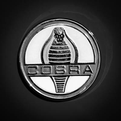 Photograph - 1965 Shelby Cobra Roadster 289 Emblem by Jill Reger