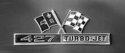 Jets Photograph - 1966 Chevrolet Corvette 427 Turbo-jet Emblem by Jill Reger