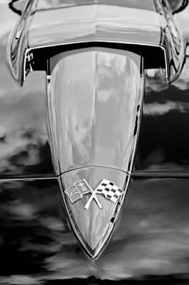 Photograph - 1966 Chevrolet Corvette Hood Emblem by Jill Reger