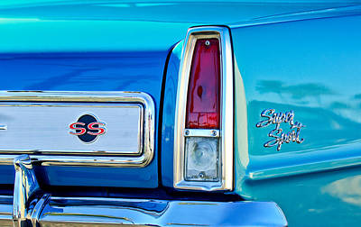 Photograph - 1966 Chevrolet II Ss L79 Taillight Emblem by Jill Reger