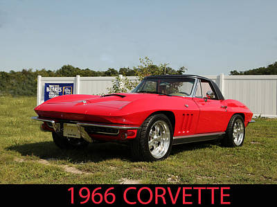 Photograph - 1966 Corvette by George Miller