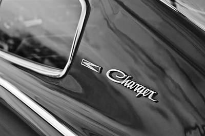 1966 Dodge Charger Emblem Art Print