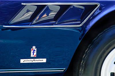 Photograph - 1966 Ferrari 330 Gtc Side Emblem Pinin Farina by Jill Reger