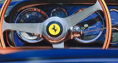 1966 Ferrari 330 Gtc Steering Wheel Emblem Art Print