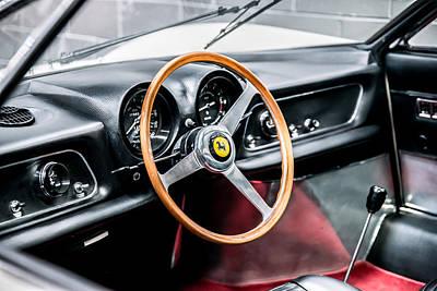 Photograph - 1966 Ferrari 365p Berlinetta Speciale Interior by Boris Mordukhayev