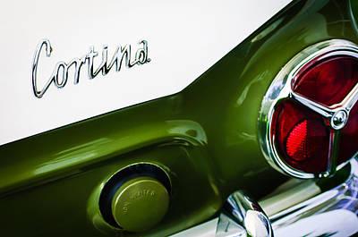 Photograph - 1966 Lotus Cortina Mk1 Taillight Emblem by Jill Reger