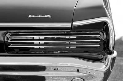 Photograph - 1966 Pontiac Gto Taillight Emblem by Jill Reger