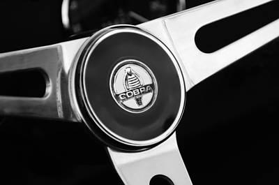 Photograph - 1966 Shelby Cobra 427 Steering Wheel Emblem by Jill Reger