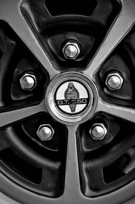 Photograph - 1966 Shelby Cobra Gt350 Wheel Emblem by Jill Reger