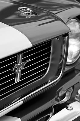 Photograph - 1966 Shelby Gt 350 Grille Emblem by Jill Reger