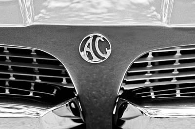 Photograph - 1967 Ac 428 Grille Emblem by Jill Reger