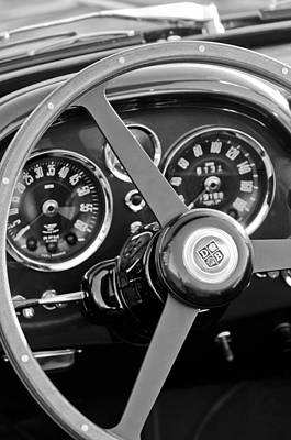 1967 Aston Martin Db6 Volante Steering Wheel Emblem Print by Jill Reger