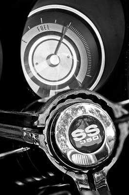Photograph - 1967 Chevrolet Camaro  Ss Steering Wheel Emblem Emblem by Jill Reger
