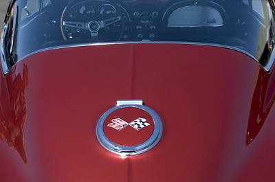 1967 Chevrolet Corvette Gas Cap Emblem Art Print by Jill Reger
