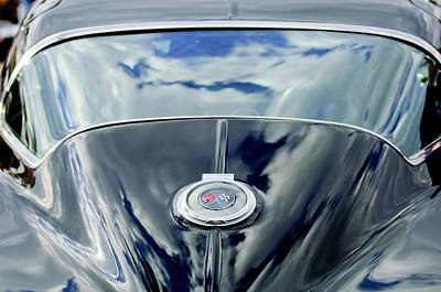 Vintage Sports Cars Photograph - 1967 Chevrolet Corvette Rear Emblem by Jill Reger