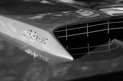 Jets Photograph - 1967 Ford Mustang Cobra Jet Hood Emblem by Jill Reger