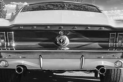 Photograph - 1967 Ford Mustang Taillight Emblem by Jill Reger