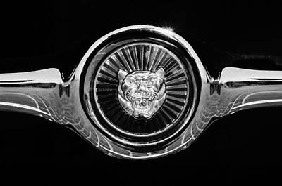 Photograph - 1967 Jaguar E-type Series I 4.2 Roadster Grille Emblem by Jill Reger