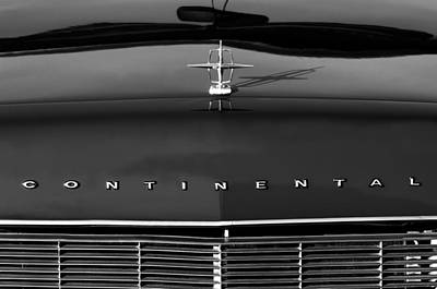 Car Photograph - 1967 Lincoln Continental Hood Ornament Grille Emblem by Jill Reger