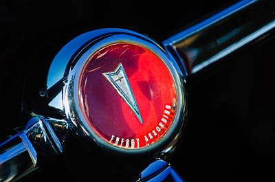 1967 Pontiac Firebird Steering Wheel Emblem Art Print by Jill Reger