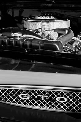 Photograph - 1967 Pontiac Gto Engine Emblem by Jill Reger