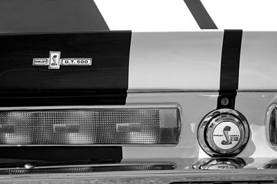 Photograph - 1967 Shelby Gt500 Fastback Taillight Emblem by Jill Reger