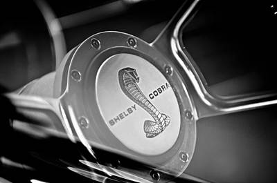 1968 Ford Shelby Cobra Mustang Fastback Steering Wheel Print by Jill Reger