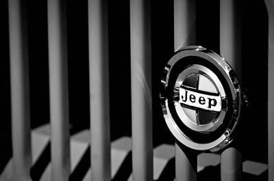Photograph - 1968 Kaiser Jeepster Sport Convertible 400 Turbo Grille Emblem by Jill Reger