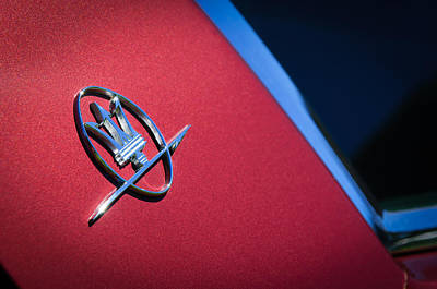 Photograph - 1968 Maserati Ghibli Emblem by Jill Reger