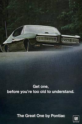 1968 Pontiac Gto Art Print by Digital Repro Depot