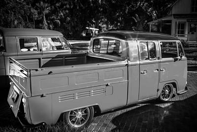 Photograph - 1968 Vw Type 2 Pick Up Truck Painted Bw  by Rich Franco