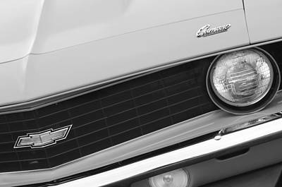 1969 Chevrolet Camaro Copo Replica Grille Emblems Art Print by Jill Reger