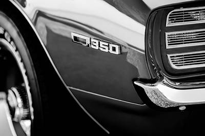 1969 Photograph - 1969 Chevrolet Camaro Rally Sport 350 Emblem by Jill Reger