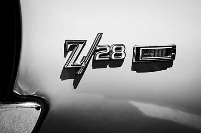 1969 Photograph - 1969 Chevrolet Camaro Z28 Emblem by Jill Reger