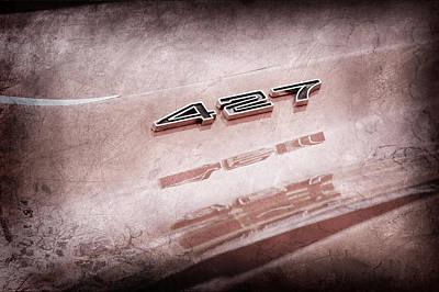 1969 Photograph - 1969 Chevrolet Corvette 427 Emblem by Jill Reger