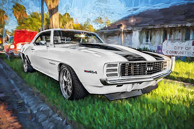 Street Rod Photograph - 1969 Chevy Camaro Rs Painted  by Rich Franco