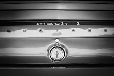 1969 Photograph - 1969 Ford Mustang Mach 1 Rear Emblem by Jill Reger